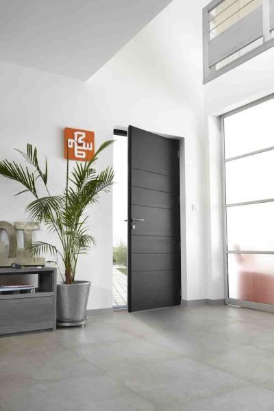 Porte d 39 entr e mixte aluminium bois bel 39 m pose concept Fermeture de porte d entree